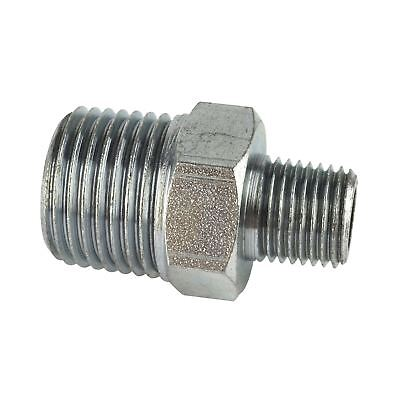 "1/4"" BSP Male to 1/2"" BSP Male Step Up / Down Thread Union Air Fitting FT055"