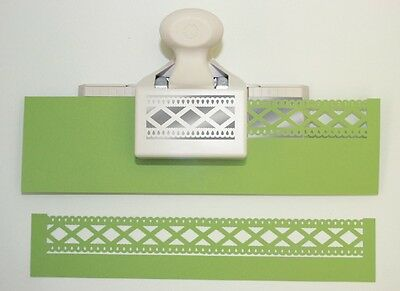 Martha Stewart Double Edge Punch ~Diamond Fence Trim