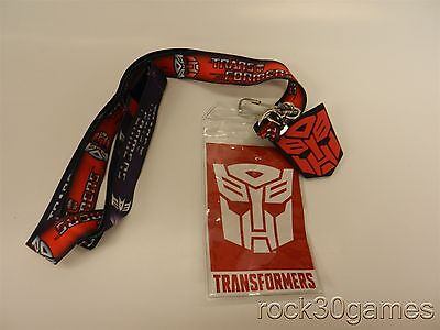 Transformers Decepticons/Autobots Lanyard with Charm by Bioworld