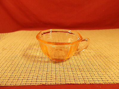 Anchor Hocking Depression Glass Princess Pink Pattern Cup