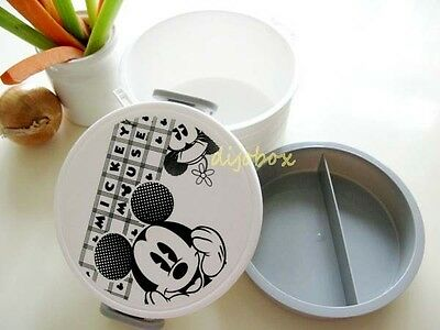 1200ml Disney Mickey Mouse B&W Microwave Lunch Box Bento Food Storage Container