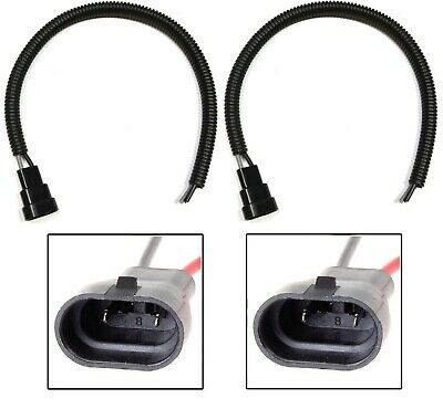 Wire Pigtail Male Extension 9140 Two Harness Fog Light Connector Plug Bulb Lamp