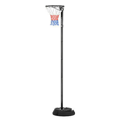 Portable 10ft Netball Stand Post Size Adjustable Junior Hoop Net Set by JumpStar