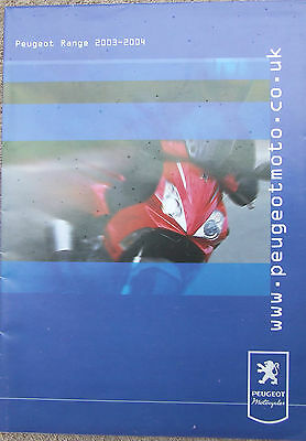 Peugeot 2003 ~ 2004 Full  Scooters Brochure Poster