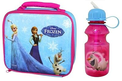 FROZEN - LUNCH BAG & WATER BOTTLE - Anna, Elsa, Olaf (Official Disney) School