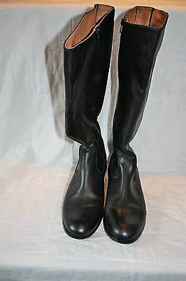 NWOB Kenneth Cole New York Black Leather Knee High Boots Size 8
