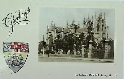 Sydney , St Andrew'S Cathedral New South Wales 1913 Postcard