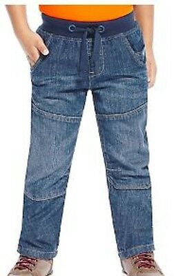 Boys jeans jersey lined ribbed waist denim ex store M & S Baby 2 3 4 5 6 7 years