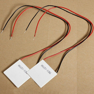 2Pcs TEC1-12706 12V 6A 72W Thermoelectric Cooler Cooling Peltier Plate Module