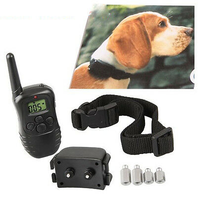 LCD Remote Control Electric Shock Dog Training E-Collar 100 Levels Recharg New
