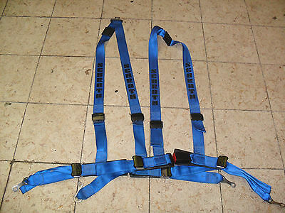 VW Polo 86C 2F G40 Schroth Gurte Sportgurte in blau