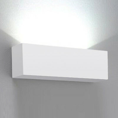 Contemporary Square White Ceramic Indoor Uplighter Wall Light Fittings Lights