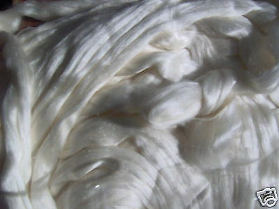 Spinning 100% Mulberry Silk - Sliver Tops 100Gms - Grab it