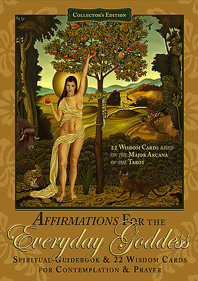 Affirmations for the Everyday Goddess Art Cards Tarot Deck and Book Set