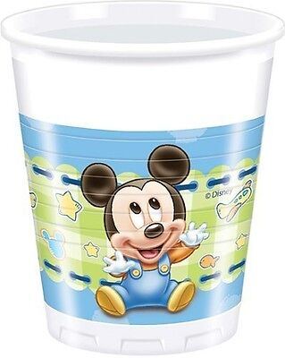 Baby Mickey Mouse 8 PLASTIC CUPS - 200ml (Party/Decoration/Birthday/Disney)