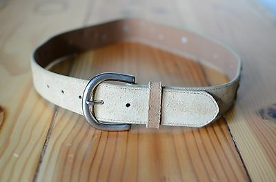 Womens Country Western Belt w/ Guitars Small Crazy Cowgirls Brass Buckle Lucky..