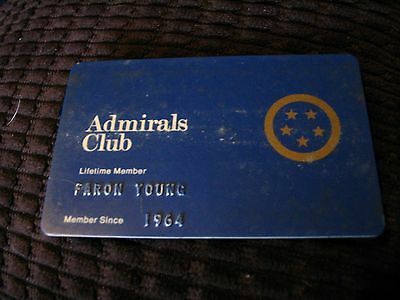 Country Music Legend Faron Young American Airlines Admirals Club Card