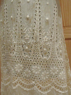 Antique Victorian Edwardian Embroidered Dress Fancy French #2