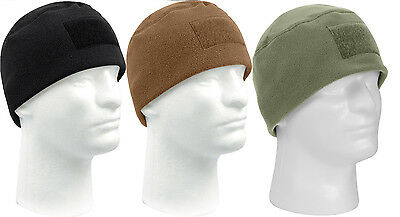 Rothco Tactical Polar Fleece Beanie Watch Cap w/ Front Loop Panel for Patch 8760