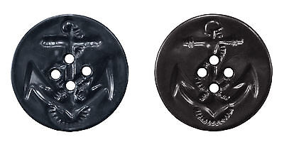 "5 Pack Black Peacoat Replacement Buttons 5 Pack 1-3/16"" Diameter"