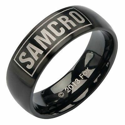 Authentic Sons Of Anarchy Unisex Samcro Steel Biker Soa Tube Ring Size 12