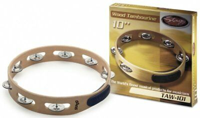 "Stagg TAW-101 Headless Wooden 10"" Hand Percussion Tambourine"