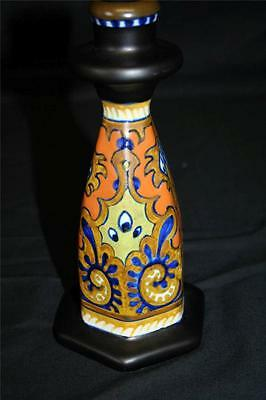 Excellent Gouda Rhodian Pottery Candlestick - 1920's - Fully Marked