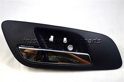 Black Chrome Lever without Hole Inside Interior Door Handle Front Left Driver