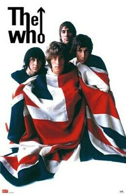 The Who Poster - Flag Group Shot - Rare Hot New 24X36