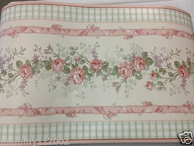 Kidsline Bellissima Bellisima Vintage Cottage pink WALL BORDER Part roll 24 FT