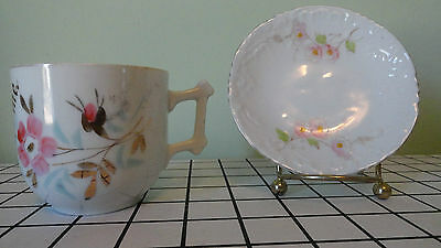 Vintage''Think of me ''cup Germany ...Victoria flower plate Austria by Carln Bad