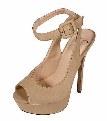 Rustic Delicious Women/'s Peep Toe Ankle Strap Platform Sandals in Natural