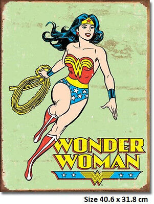 Wonder Woman Tin Sign 1642  Made in USA Licensed Not Chinese Bootleg