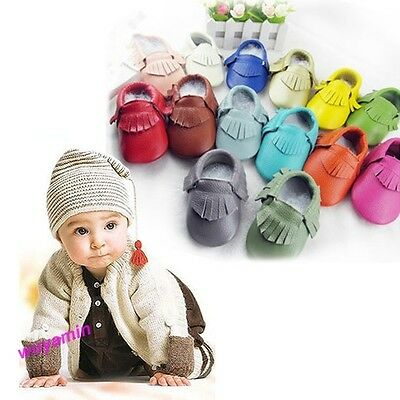 Baby Tassel Soft Leather Shoes Infant Boy Girl Toddler Moccasin Shoes New