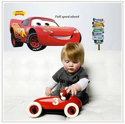 Large Cars Lightning McQueen Mater Children's Wall Stickers Decal Decor