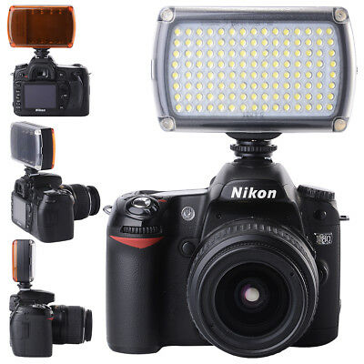 120 LED 9W Studio Video Light Hotshoe Dimmable Lamp for Camera Camcorder LF645