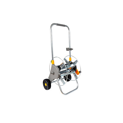 Hozelock 90m Assembled Metal Hose Cart Trolley 2460 Garden Watering No Hose