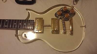 Taurus LP Style Electric Guitar with Acrylic Body (Transparent) & gold details