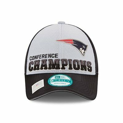 New Era New England Patriots Locker Room NFC Champions Trophy 9Forty Hat Cap