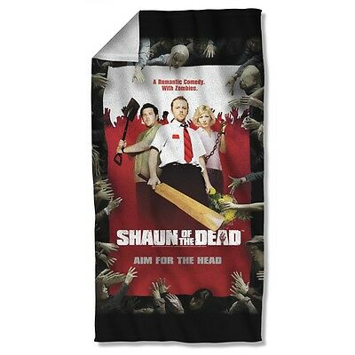 """Shaun Of The Dead Movie Poster Licensed Beach Towel 30"""" X 60"""""""