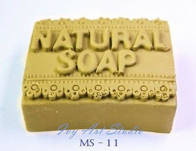 Silicone Soap/Candle Mold/Mould One Cavity - Natural Soap Square Bar