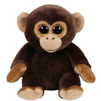 TY Classic Plush - BANANAS the Brown Monkey (9.5 inch)- MWMT's - Stuffed Animal