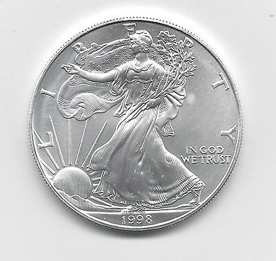 1998 - 1 oz American Silver Eagle Coin - One Troy oz .999 Bullion