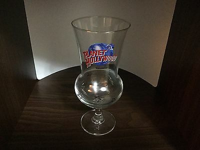 "Planet  Hollywood Vancouver Canada 8.25"" Hurricane Stemmed Glass"