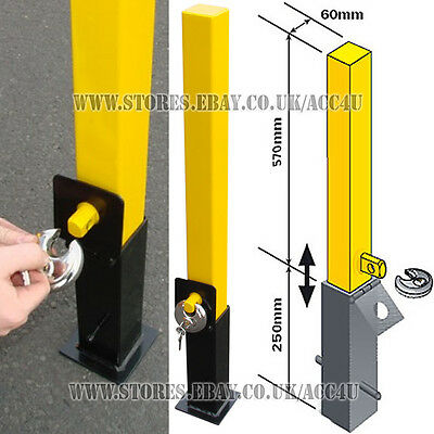 Maypole MP9731 Home Driveway Private Car Parking Removable Bollard Security Post
