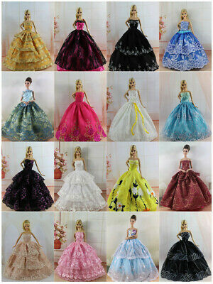 15 items=5* Fashion Handmade Party Dress/Clothes/Gown +10 shoes For 11.5in.Doll