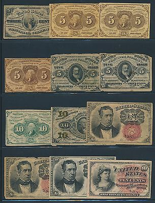 (22) PIECES FRACTIONAL CURRENCY COLLECTION ( FR1226 // FR1379) BR9468 DOY1112a