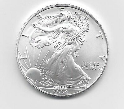 2004 - 1 oz American Silver Eagle Coin - One Troy oz .999 Bullion