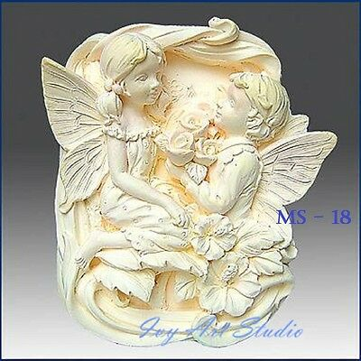 Silicone Soap Mold/Candle Mold/Mould One Cavity - Angel Propose Marry Me