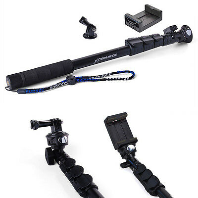 Extendable Monopod Handheld Selfie Stick for GoPro Hero 1 2 3 3+ 4 Camera DC548